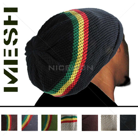 100% Cotton Mesh Nattydread Rasta Cap Hat Tam Bonet Roots Reggae Rockers Jamaica M/L Fit