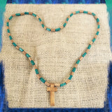Jesus Christ Yeshua Messiah Wood Necklace Cross Lord Savior Jesus Christ 36""