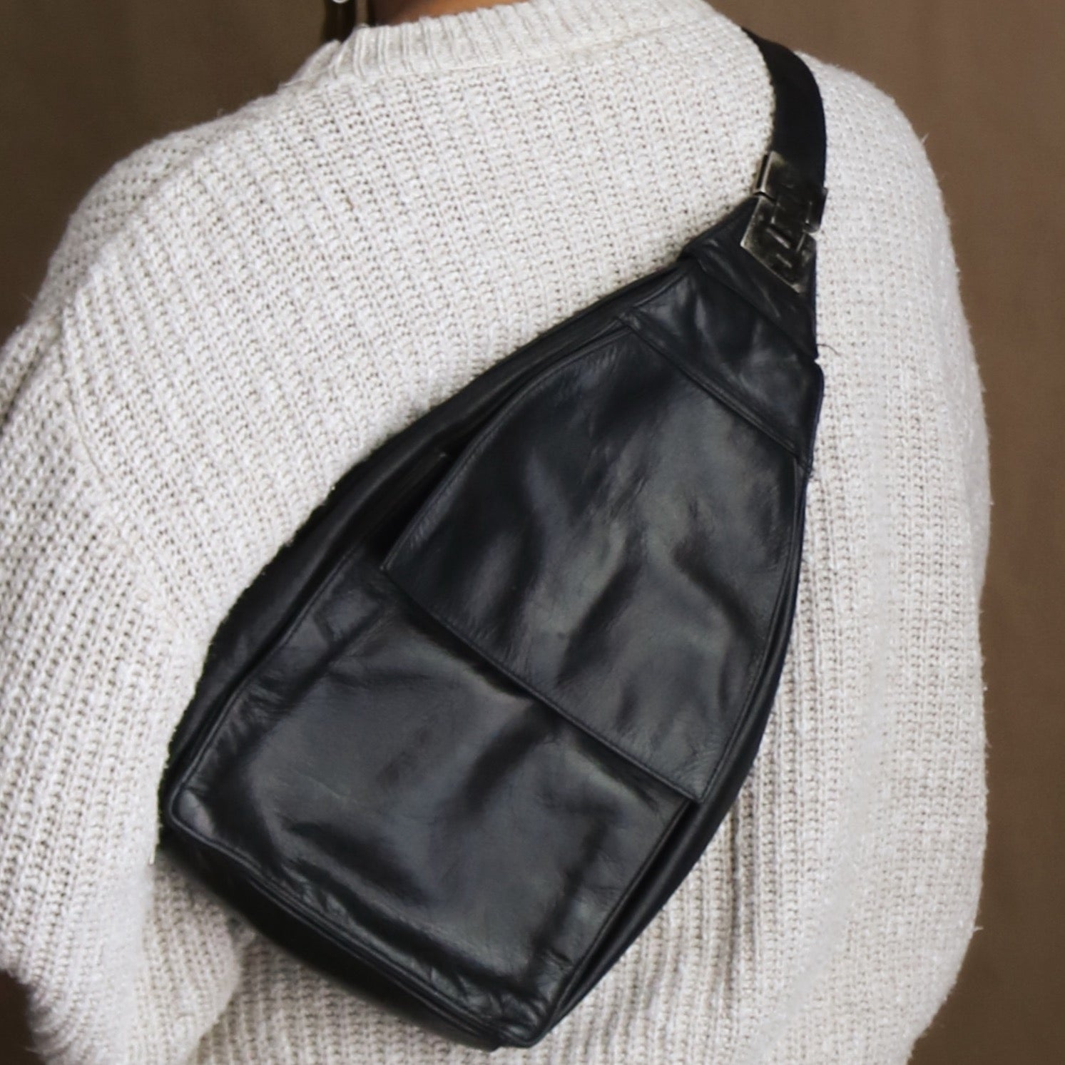90s soft leather backpack