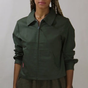 structured jacket, olive