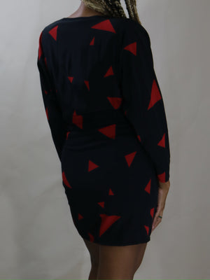 silk mini dress, rouge + noir