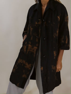 reverse dyed layer , black + Cinnamon | vinti edit