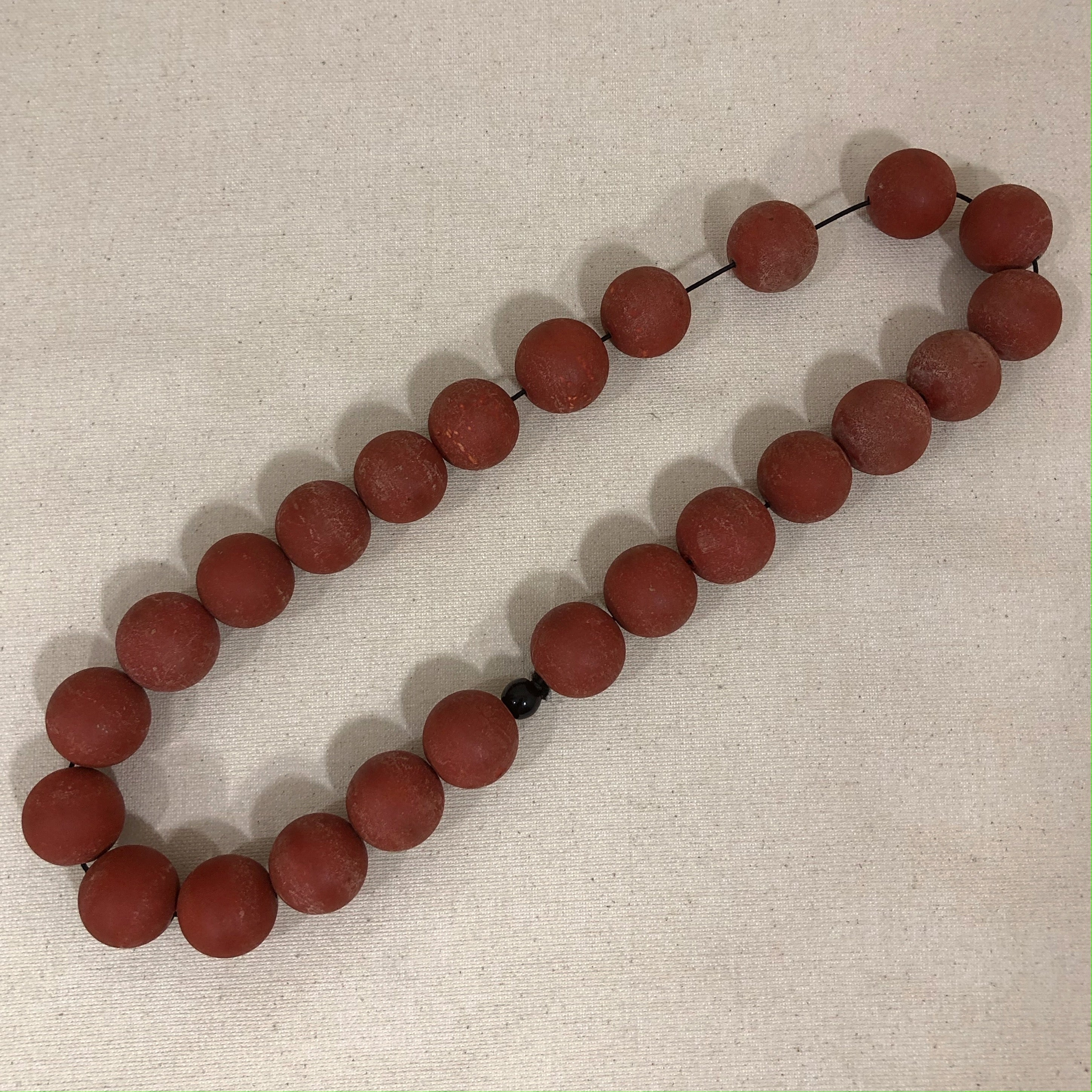 clay necklace, terracotta