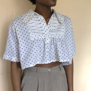 french vintage crop top