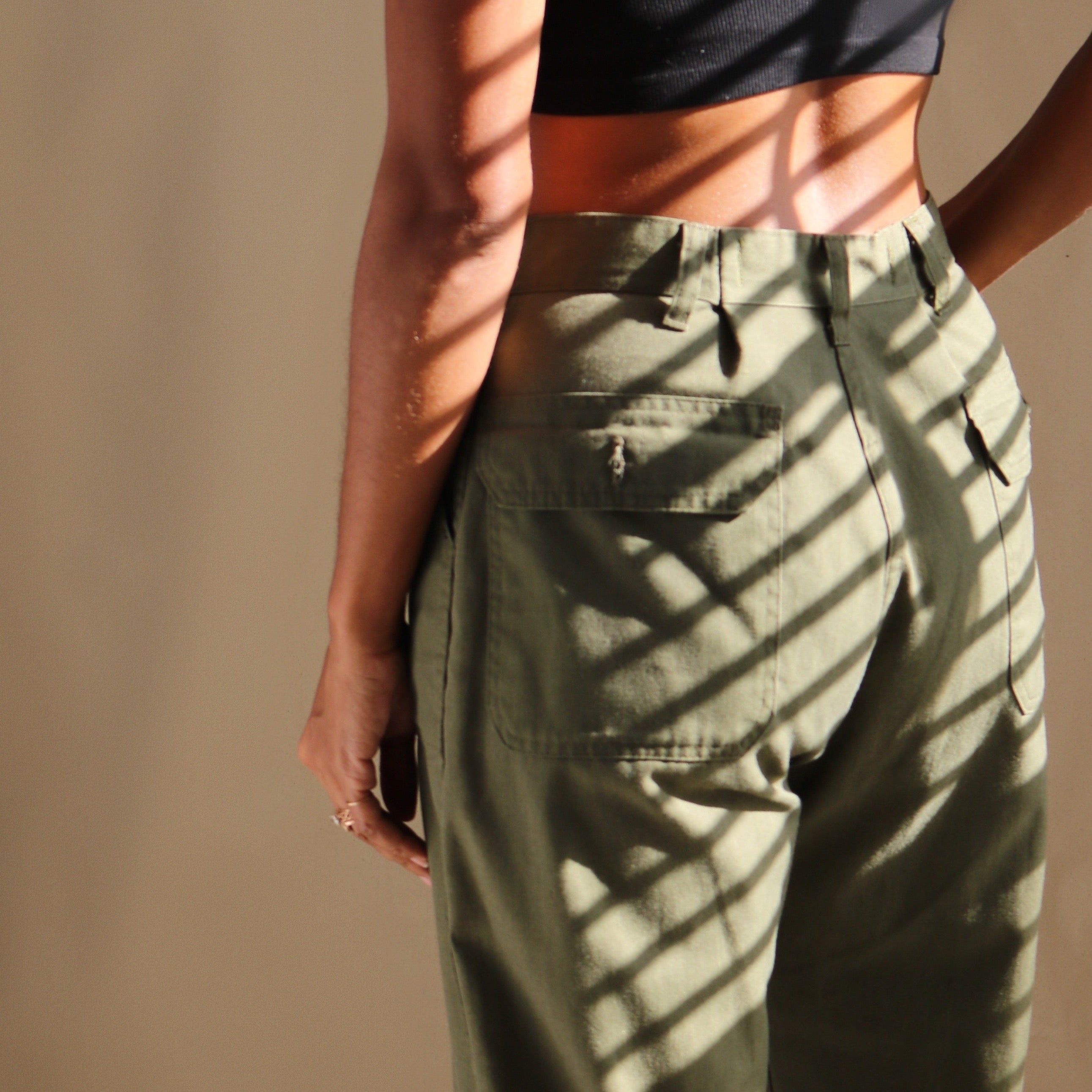 bromley easy pant, olive | vinti edit