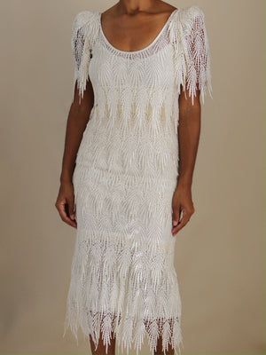 Rothmer lace dress, ivory