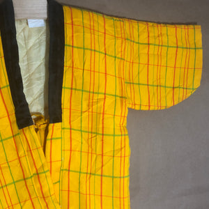 plaid kimono in yellow | 8 - 10 Large
