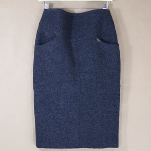 wool Chanel pencil skirt, charcoal