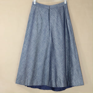 cotton skirt in denim blue | vinti edit