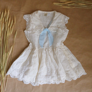 sailor dress in white linen | 4