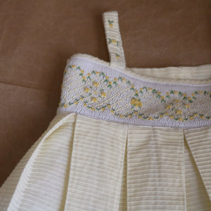 flower dress in pale yellow | 5