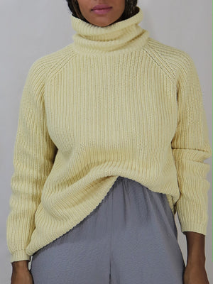 cotton ribbed knit, buttercream