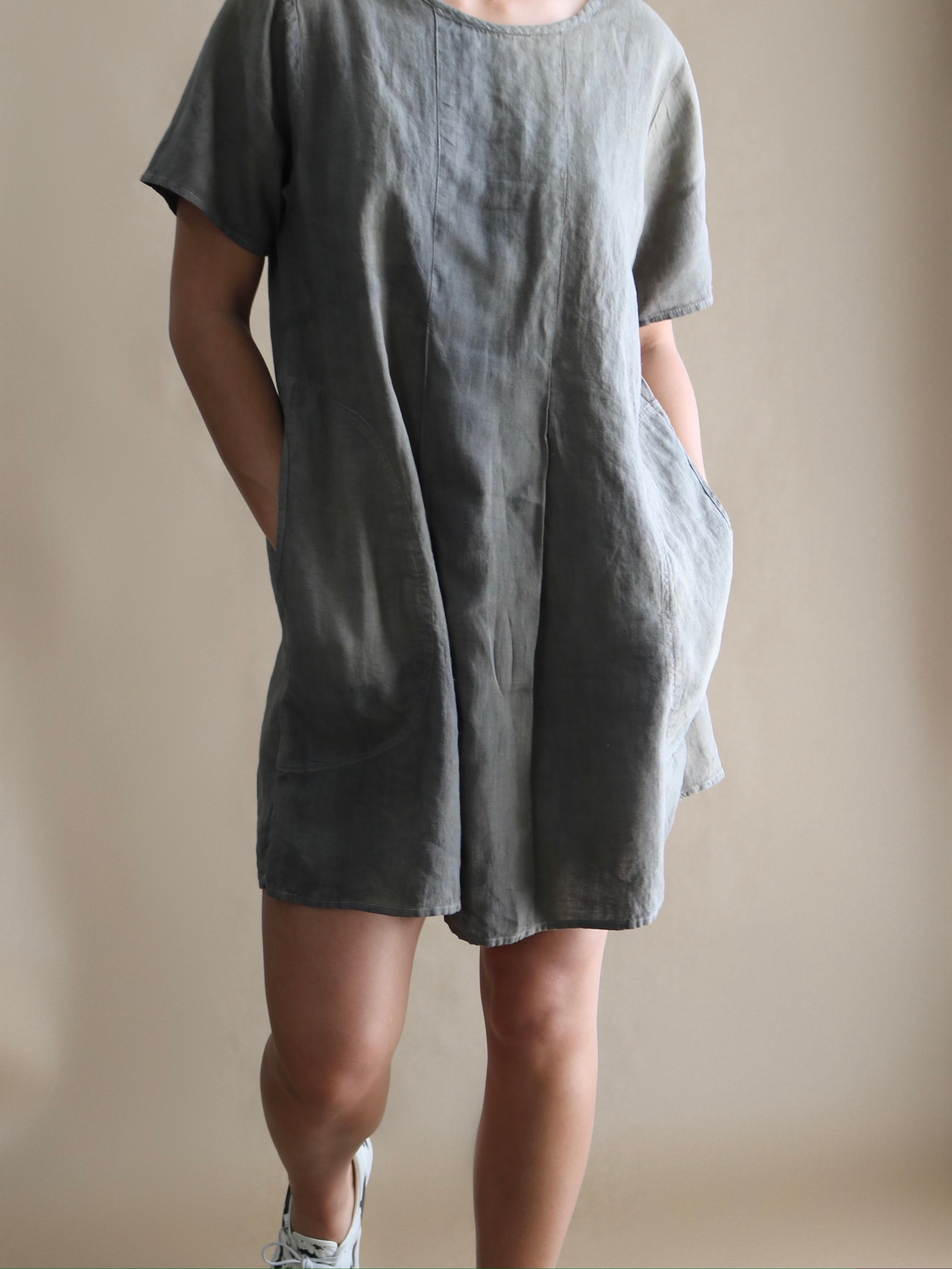 linen dress, lil bits cloth x vinti