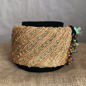 pillbox hat in natural and velvet