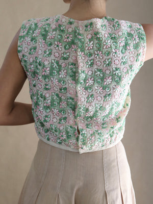 60s top, floral