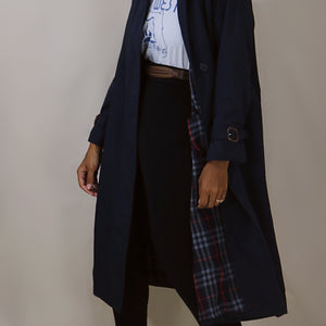 Burberry nova trench, blue-water navy