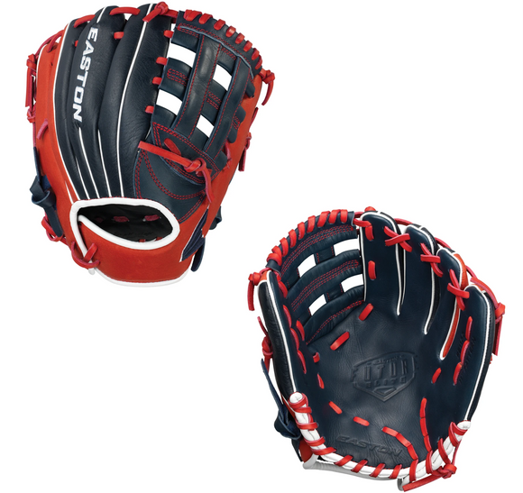Easton Future Elite Youth FE1100 Navy/Red Baseball Glove - 11