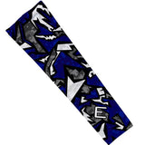 Elite Athletic Gear Navy Geo Digi Compression Arm Sleeve