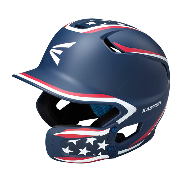 Easton Z5 2.0 Matte Finish Stars And Stripes Baseball Batter's Helmet With Universal Jaw Guard