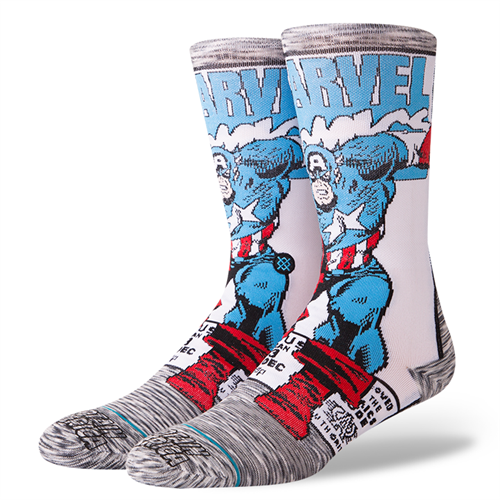 Stance Adult Captain America Comic Crew Socks