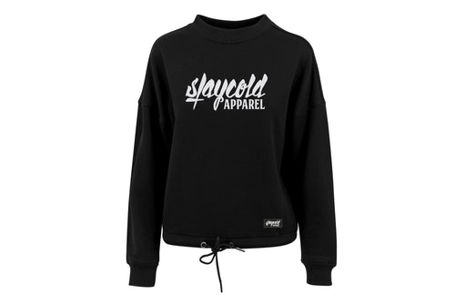 Girls Oversize Crewneck Black