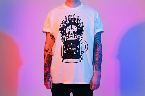 Death before Decaf Comeback Tee