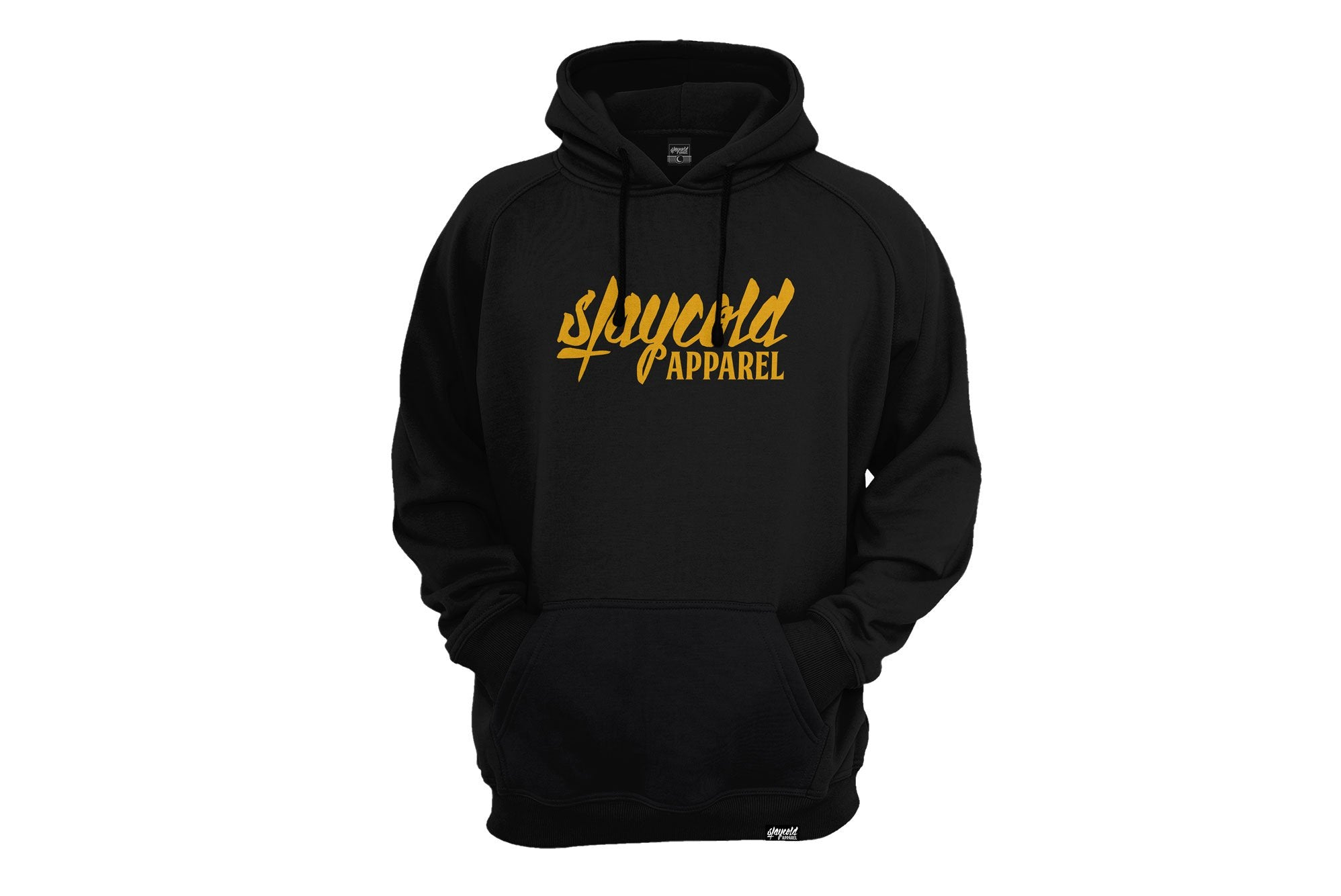 Stay Cold Logo Hoodie Black Yellow