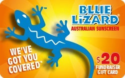Reach your fundraising goals selling $20 Blue Lizard® Fundraiser Gift Cards. It pays to be blue!