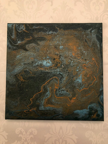 Paint Pour on Canvas #1