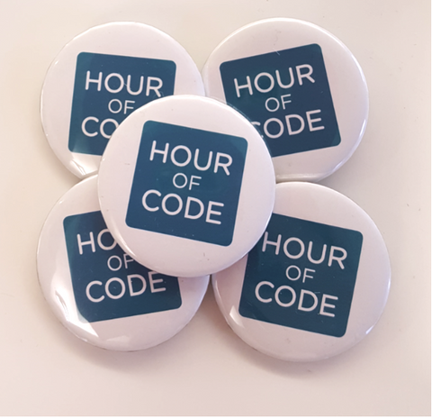 Hour of Code Buttons - 5 Pack
