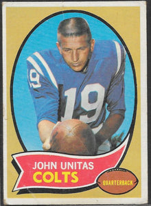 Football Cards - 1970 Topps - John Unitas #180 - Colts - Creases