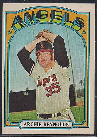 Baseball Cards - 1972 Topps Archie Reynolds #672 - Angels