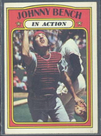 Baseball Cards - 1972 Topps Johnny Bench In Action  #434 - Reds