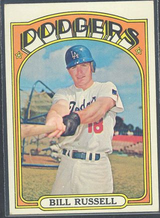 Baseball Cards - 1972 Topps Bill Russell #736 - Dodgers