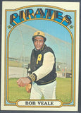 Baseball Cards - 1972 Topps Bob Veale #729 - Pirates