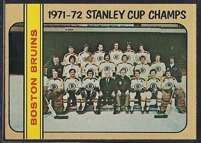 Hockey Cards - 1972-73 - Topps Boston Bruins Team #1 Stanley Cup Champs