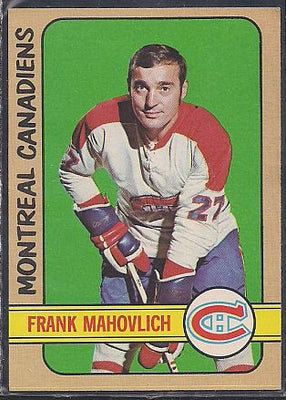 Hockey Cards - 1972-73 - Topps Frank Mahavolich #140 - Canadiens