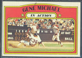 Baseball Cards - 1972 Topps Gene Michael In Action #714 - Stain - Yankees