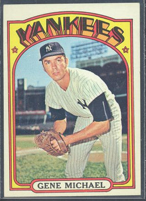 Baseball Cards - 1972 Topps Gene Michael #713 - Yankees