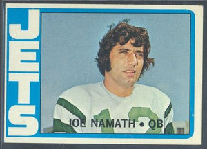 Football Cards - 1972 Topps Joe Namath #100 - Jets