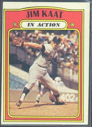 Baseball Cards - 1972 Topps Jim Kaat In Action #710 - Twins