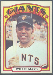 Baseball Cards - 1972 Topps Willie Mays #49 - Giants