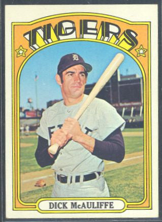 Baseball Cards - 1972 Topps Dick McAuliffe #725 - Tigers