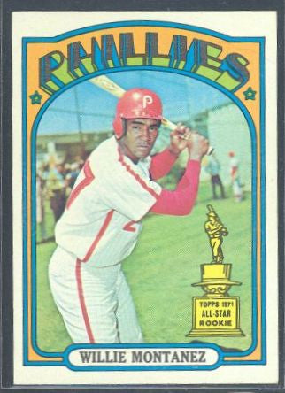 Baseball Cards - 1972 Topps Willie Montanez #690 - Phillies