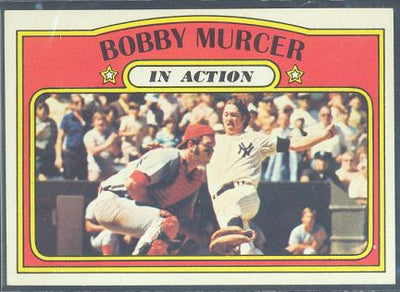Baseball Cards - 1972 Topps Bobby Murcer In Action - #700 - Yankees