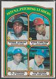 Baseball Cards - 1972 Topps - National League Pitching Leaders  #93- Jenkins/Carlton/Downing/Seaver