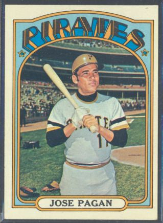 Baseball Cards - 1972 Topps Jose Pagan #701 - Pirates