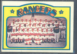 Baseball Cards - 1972 Topps Rangers Team #668