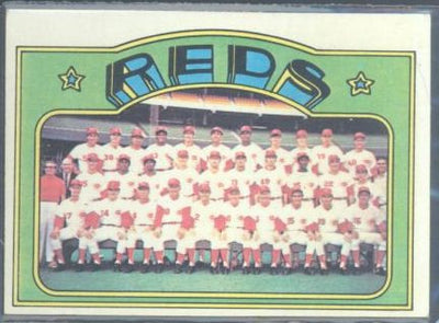 Baseball Cards - 1972 Topps Reds Team #651