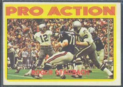 Football Cards - 1972 Topps Roger Staubach Pro Action #122 - Cowboys